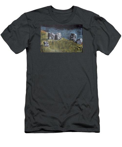 Pastel Stones On Black Men's T-Shirt (Athletic Fit)