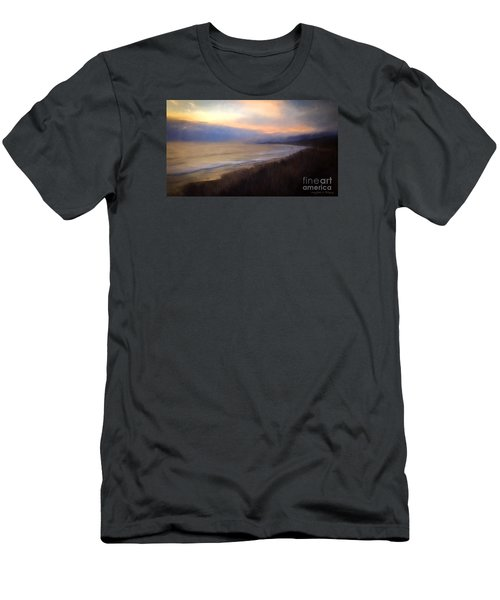 Men's T-Shirt (Slim Fit) featuring the photograph Pastel Sunset by John A Rodriguez
