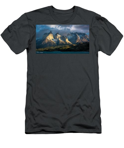 Men's T-Shirt (Slim Fit) featuring the photograph Patagonian Sunrise by Andrew Matwijec