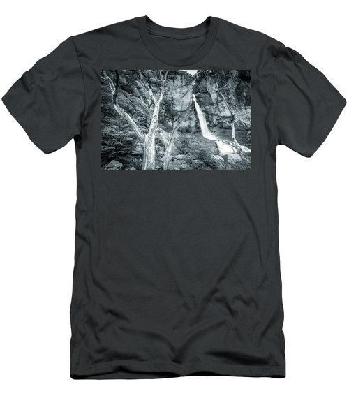 Men's T-Shirt (Slim Fit) featuring the photograph Patagonian Waterfall by Andrew Matwijec