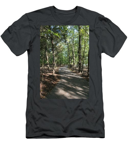 Path Around Lake Men's T-Shirt (Athletic Fit)