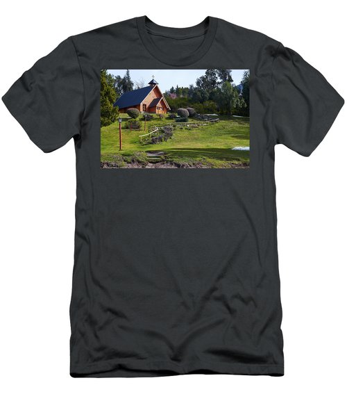 Rustic Church Surrounded By Trees In The Argentine Patagonia Men's T-Shirt (Athletic Fit)