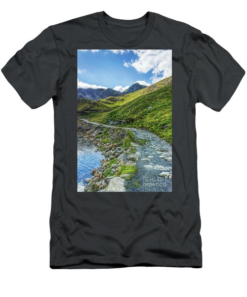 Men's T-Shirt (Slim Fit) featuring the photograph Path To Snowdon by Ian Mitchell