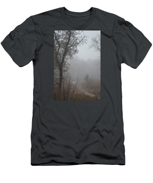 Men's T-Shirt (Slim Fit) featuring the photograph Pathway In The Fogs Of Life by Carolina Liechtenstein
