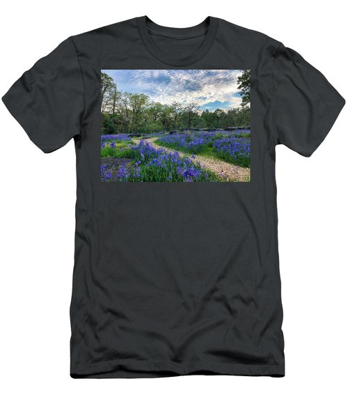 Pathway Through The Flowers Men's T-Shirt (Athletic Fit)