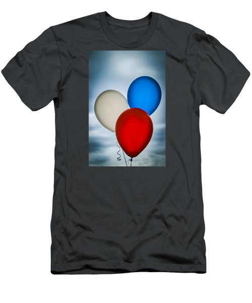 Men's T-Shirt (Slim Fit) featuring the photograph Patriotic Balloons by Carolyn Marshall