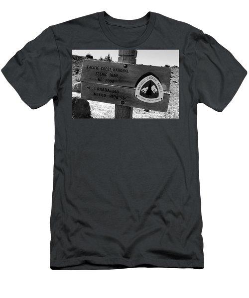 Pct Scenic Trail Men's T-Shirt (Slim Fit) by David Lee Thompson