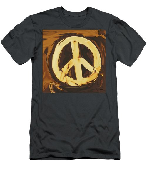 Men's T-Shirt (Slim Fit) featuring the digital art Peace 2 by Rabi Khan