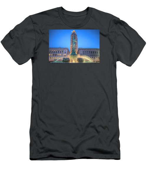 Men's T-Shirt (Slim Fit) featuring the photograph Peace Arising From The Flames Of War by Brent Durken