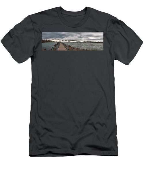 Peace Bridge Men's T-Shirt (Athletic Fit)