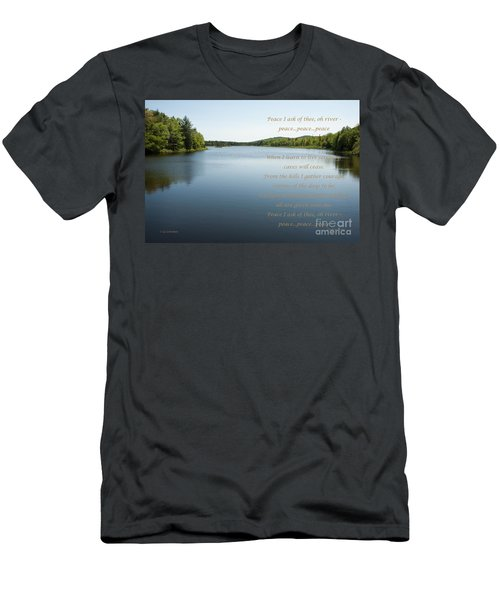 Peace I Ask Of Thee Oh River Men's T-Shirt (Athletic Fit)