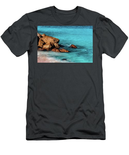Peaceful Beach Men's T-Shirt (Athletic Fit)