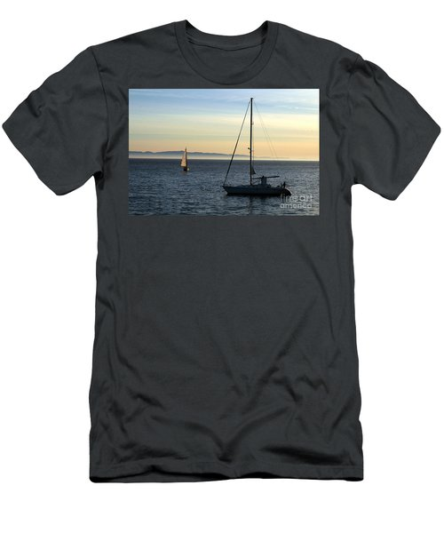 Peaceful Day In Santa Barbara Men's T-Shirt (Athletic Fit)