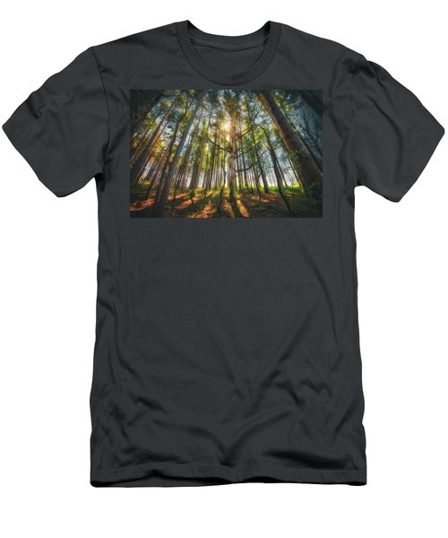 Peaceful Forest 5 - Spring At Retzer Nature Center Men's T-Shirt (Slim Fit) by Jennifer Rondinelli Reilly - Fine Art Photography
