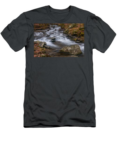 Peaceful Mountain Stream Men's T-Shirt (Athletic Fit)