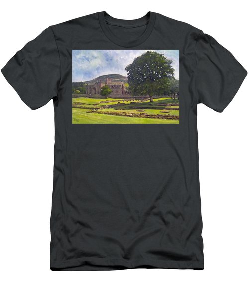 Peaceful Retreat - Melrose Abbey  Men's T-Shirt (Athletic Fit)