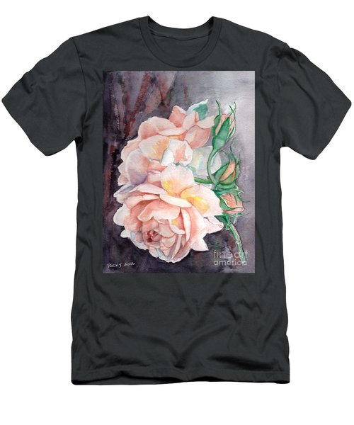 Peach Perfect - Painting Men's T-Shirt (Athletic Fit)