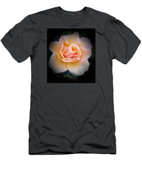 Peach Rose  Men's T-Shirt (Athletic Fit)
