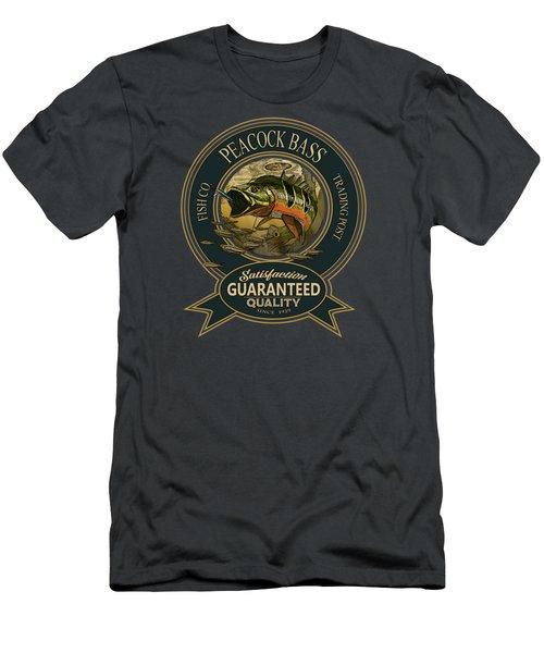 Peacock Bass Logo Men's T-Shirt (Athletic Fit)