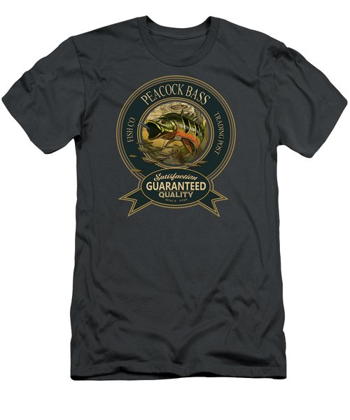 Peacock Bass Logo Men's T-Shirt (Athletic Fit)