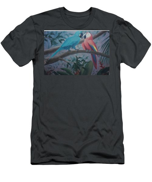 Peacocks In The Jungle Men's T-Shirt (Athletic Fit)