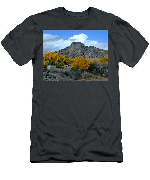 Men's T-Shirt (Athletic Fit) featuring the photograph Peak Above Yellow by Joseph R Luciano