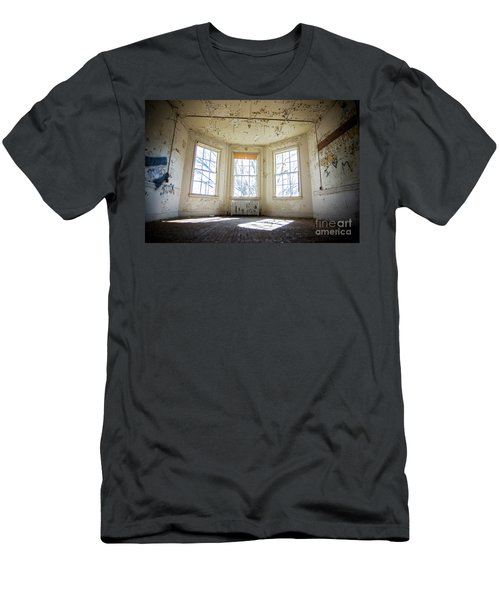 Men's T-Shirt (Slim Fit) featuring the photograph Pealing Walls by Randall Cogle
