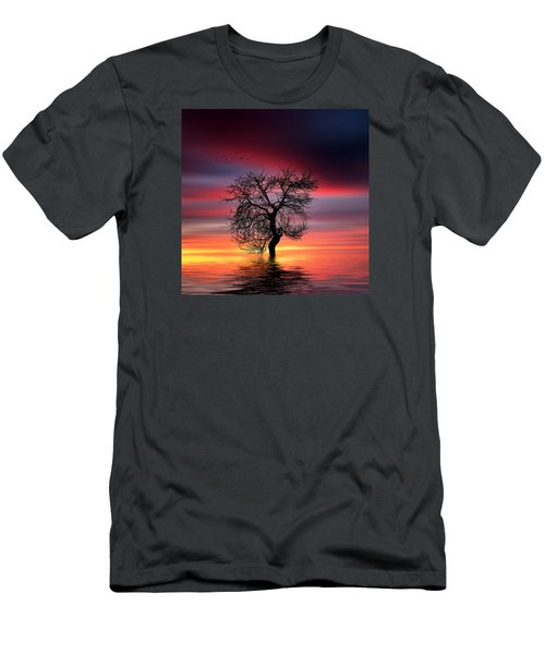 Pear On Lake Men's T-Shirt (Athletic Fit)