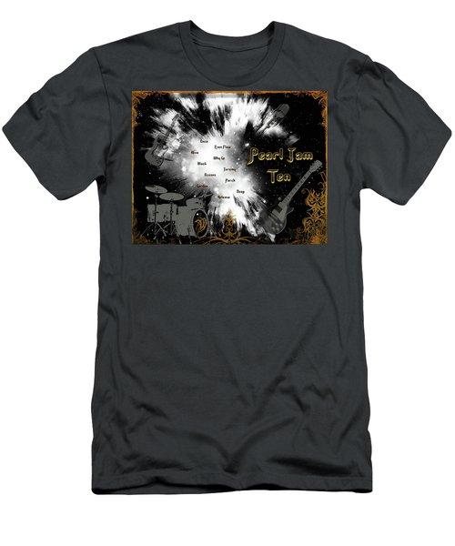 Pearl Jam Ten Men's T-Shirt (Slim Fit) by Michael Damiani