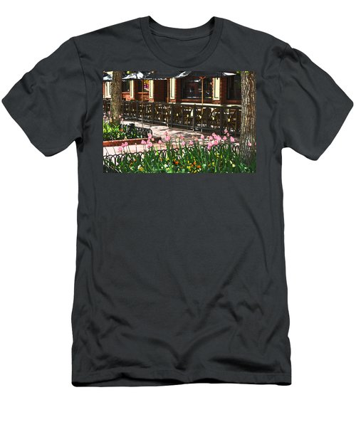 Pearl Street Mall Men's T-Shirt (Slim Fit) by Colleen Coccia