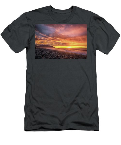 Pebble Beach Sunrise Men's T-Shirt (Slim Fit) by Martin Capek