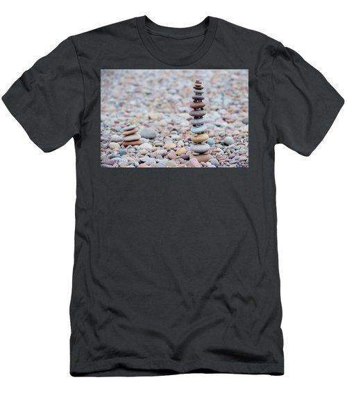 Pebble Stack II Men's T-Shirt (Slim Fit) by Helen Northcott