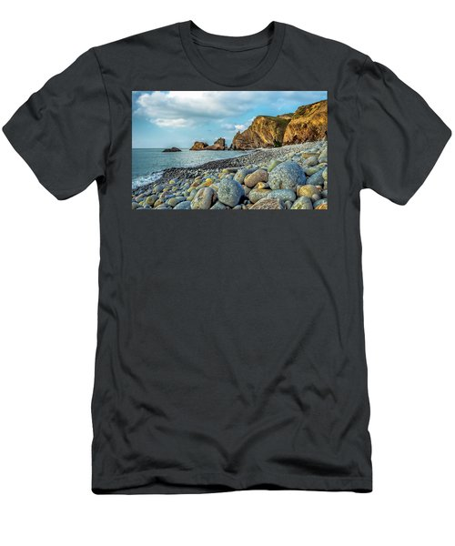 Men's T-Shirt (Athletic Fit) featuring the photograph Pebbles On The Beach by Nick Bywater