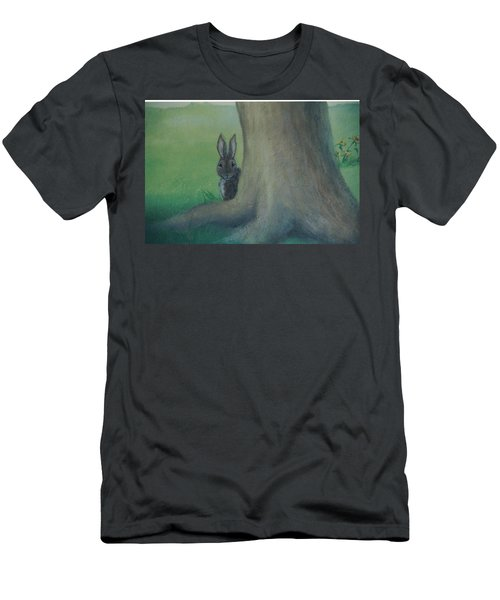 Peek A Boo Behind The Tree Men's T-Shirt (Athletic Fit)