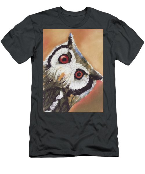 Peekaboo Owl Men's T-Shirt (Athletic Fit)