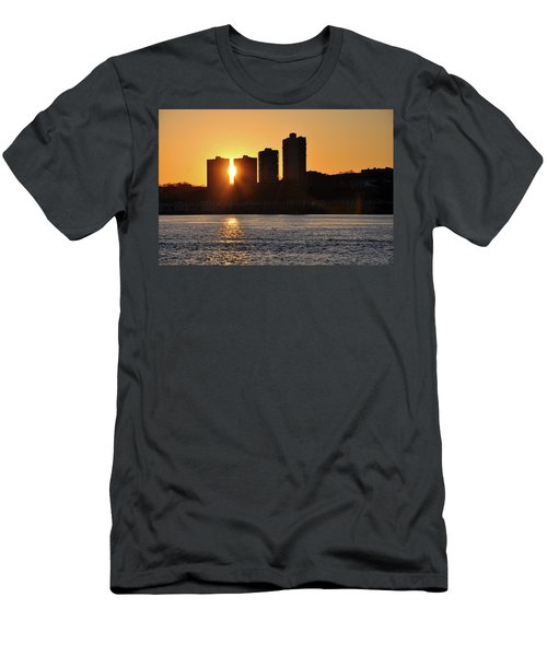 Peekaboo Sunset Men's T-Shirt (Slim Fit) by Sarah McKoy
