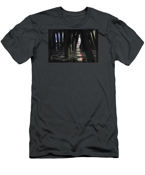 Peeking Men's T-Shirt (Slim Fit) by Lora Lee Chapman