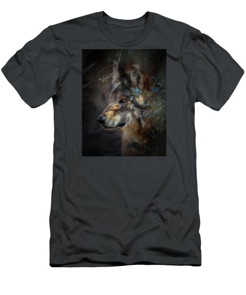 Peeking Out From The Shadows Men's T-Shirt (Slim Fit) by Elaine Malott