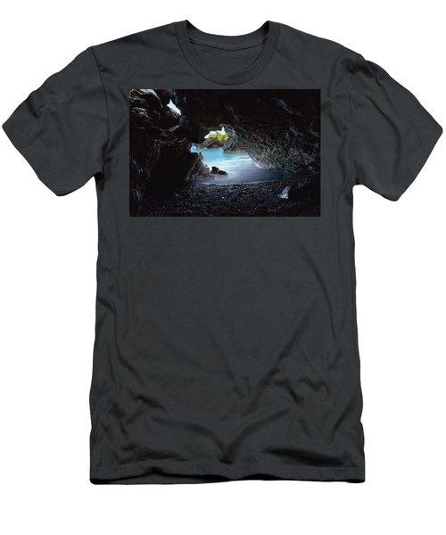 Peeking Through The Lava Tube Men's T-Shirt (Athletic Fit)