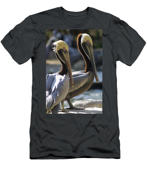Men's T-Shirt (Slim Fit) featuring the photograph Pelican Duo by Dodie Ulery