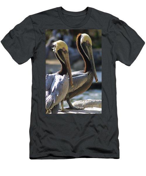 Pelican Duo Men's T-Shirt (Slim Fit) by Dodie Ulery