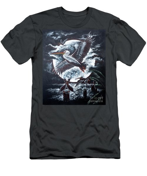 Pelican Moon Men's T-Shirt (Athletic Fit)