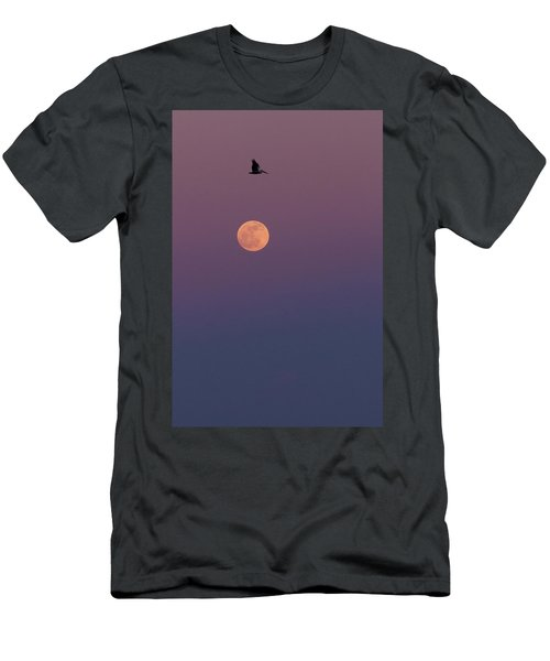 Pelican Over The Moon Men's T-Shirt (Athletic Fit)
