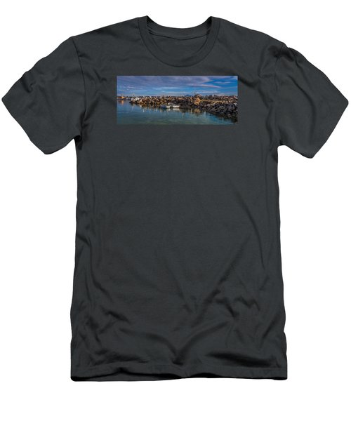 Pelicans At Eden Wharf Men's T-Shirt (Athletic Fit)