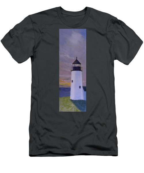 Pemaquid Light Morning Light Men's T-Shirt (Athletic Fit)