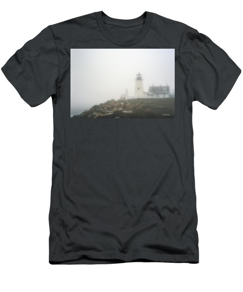 Pemaquid Point Lighthouse In Fog Men's T-Shirt (Athletic Fit)