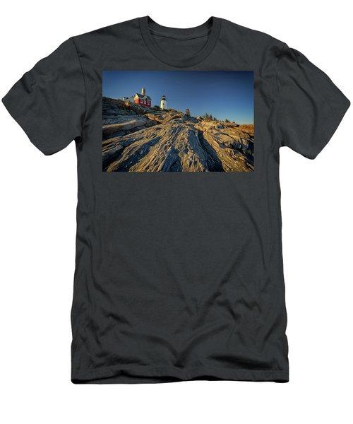 Pemaquid Point Men's T-Shirt (Slim Fit) by Rick Berk