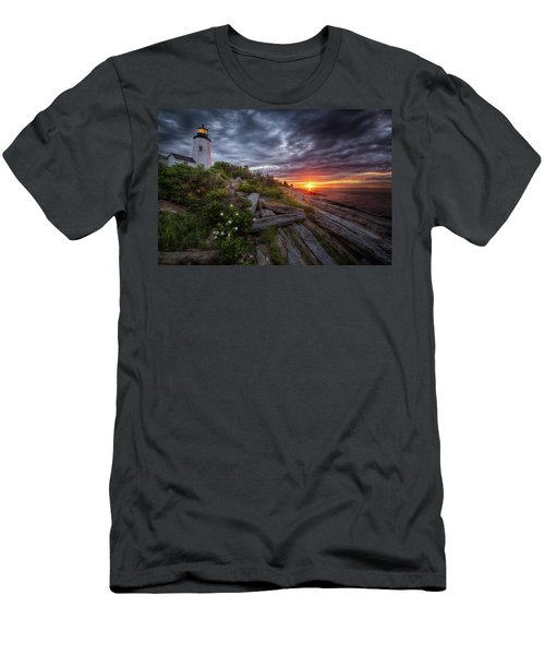 Pemaquid Sunrise Men's T-Shirt (Slim Fit) by Neil Shapiro