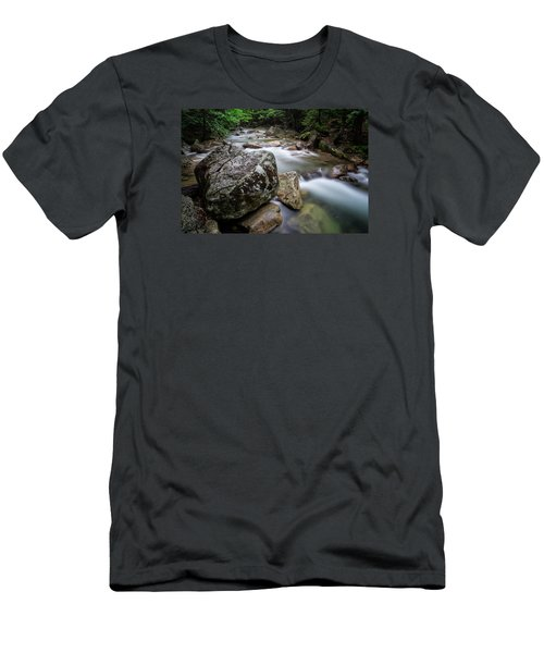 Pemi-basin Trail Men's T-Shirt (Slim Fit) by Michael Hubley