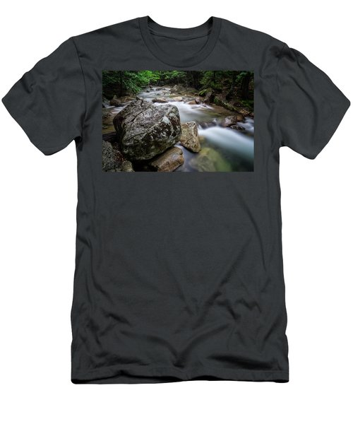 Men's T-Shirt (Athletic Fit) featuring the photograph Pemi-basin Trail by Michael Hubley